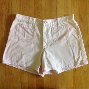 80s LA BLUES pink high waisted mom jean shorts